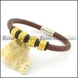 diameter of 6mm brown leather bracelets b001621