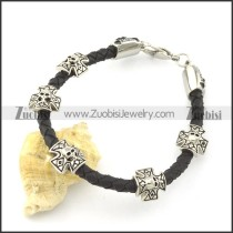 leather and stainless steel bracelets b001795