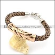 braided leather bracelet with OT buckle b001854