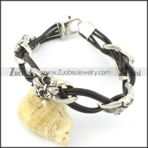 leather and stainless steel bracelets b001786