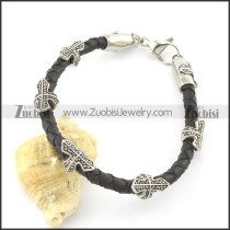leather and stainless steel bracelets b001791