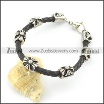 leather and stainless steel bracelets b001788