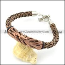 braided leather bracelet with OT buckle b001855