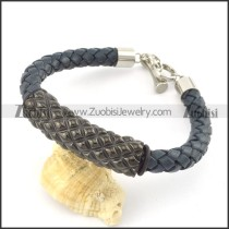 braided leather bracelet with OT buckle b001863