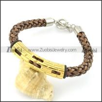 braided leather bracelet with OT buckle b001857
