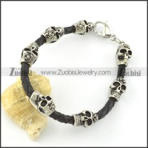 leather and stainless steel bracelets b001797
