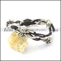 leather and stainless steel bracelets b001792