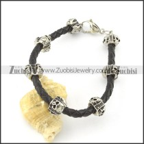 leather and stainless steel bracelets b001793