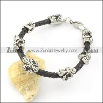 leather and stainless steel bracelets b001789