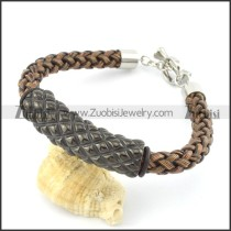 braided leather bracelet with OT buckle b001860