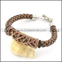 braided leather bracelet with OT buckle b001843