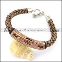 braided leather bracelet with OT buckle b001859