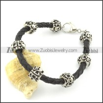 leather and stainless steel bracelets b001794