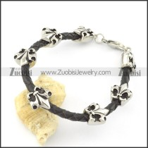 leather and stainless steel bracelets b001790