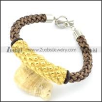 braided leather bracelet with OT buckle b001861