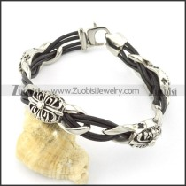 leather and stainless steel bracelets b001787