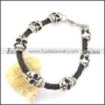 leather and stainless steel bracelets b001796