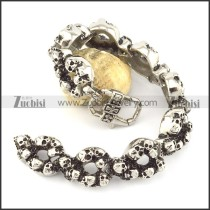 220mm skull bracelet with big casting lobster clasp b002046