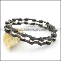 All Black Bling Bike Chain Bracelet b002112