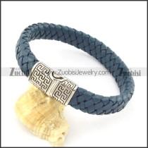 genuine leather bracelet in stainless steel b001900