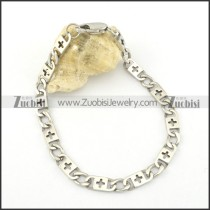 6mm cross chain bracelet b002072
