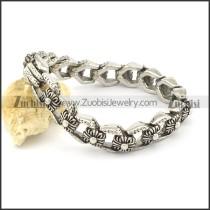 casting flower link bracelet b002041