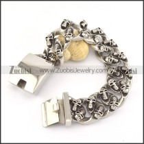 heavy weight casting skull bracelet for strong men b002053