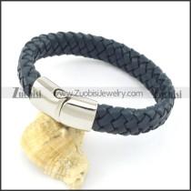 genuine leather bracelet in stainless steel b001897