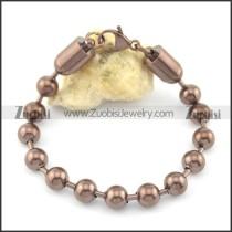 8mm wide coffee round ball chain bracelet b002371
