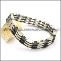 rubber bracelet with 3 layers b002426