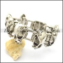 8.8 inch dinosaur skull chain link bracelet b002614