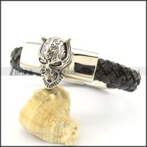 Cool wolf stainless steel rope bracelet b002317