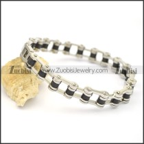 lady bicycle chain bracelet with black middle part b002424
