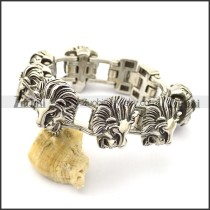 7 lion heads bicycle chain bracelet b002610