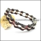 clear crystal bike chain bracelet in black and coffee tone b002713