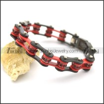 Motorcycle Chain Bracelet in 2 tones of Black and Red b002712