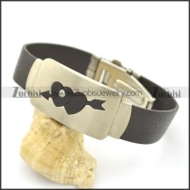 Love Bow Black Rubber Bracelet b002975