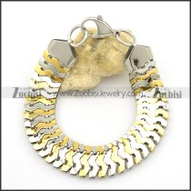 Stainless Steel Flat Snake Chain Bracelet in Shiny High Polished b003055