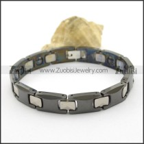 Black Creamic Bracelet with Small Facted Tungsten Connector b003020
