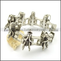 7 Dragon Heads Bike Chain Bracelet b003029