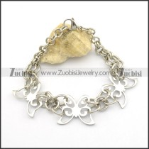 3 Fashion Butterflies Chain Bracelet b003017