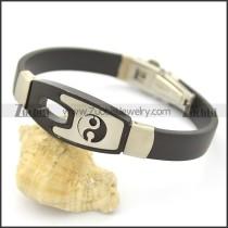 Taiji Rubber Bracelet b002974