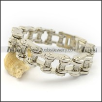 Clear Rhinestone Roller Bicycle Chain Bracelet for Ladies b003487