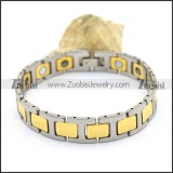 Silver and Gold Tungsten Bracelets b003517