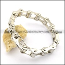 12MM Silver Stainless Steel Bike Chain Bracelet with Buckle b003457