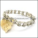11mm Wide Stainless Steel Motorbike Chain Link Bracelet for Women Bikers b003486