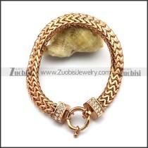 Rose Gold Herringbone Stainless Steel Chain Bracelet b003583