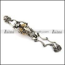 Matte Human Skeleton Bracelets for Strong Mens b003782
