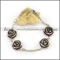 Four Casting Roses Chain Bracelet b003916
