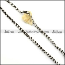 Vintage 316L Stainless Steel Chain for matching men's biker jewelry -n000248